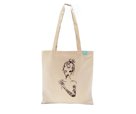Bolsos - Lena Bags Tote Tattoo Girl