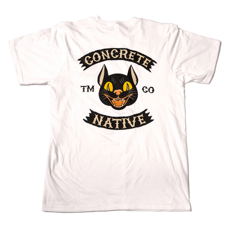 Tees - Concrete Native Black Cat Tee • Sustainable