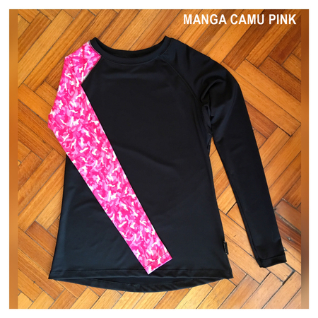Mangas Largas - Wildass Maia Rash Guard Camu Pink