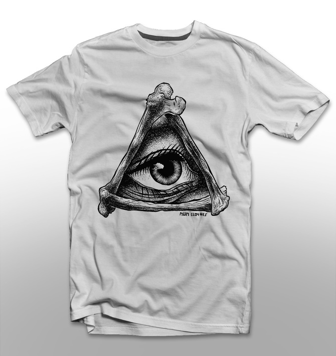 Mangas Cortas - MÜM Remera Eye Blanco
