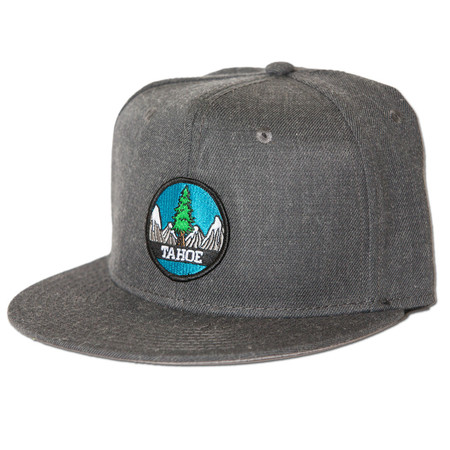 Rise Designs Tahoe Tree Circle Snapback Hat - Heather Black