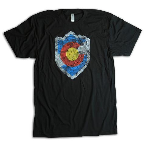 Tees - Kind Design VAIL TOPO SHIELD T-SHIRT