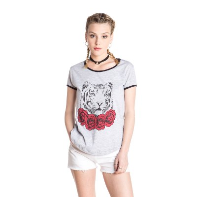 Indumentaria - Kout Remera Lady Tiger Flower
