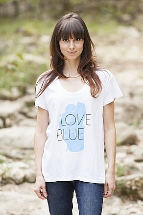 Tees - California 89 Women's Short Sleeve Roadtrip Love Blue Lake