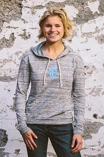 Jackets - California 89 Women's lightweight pullover Love Blue front