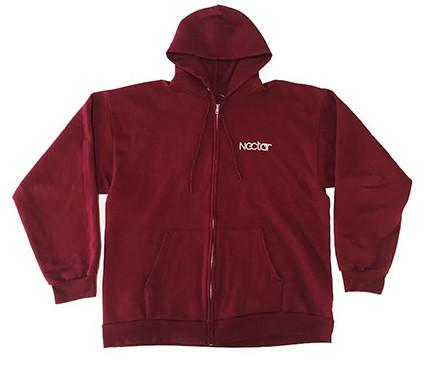 Zip Hoodies - Nectar Sunglasses MAROON ZIP UP HOODIE