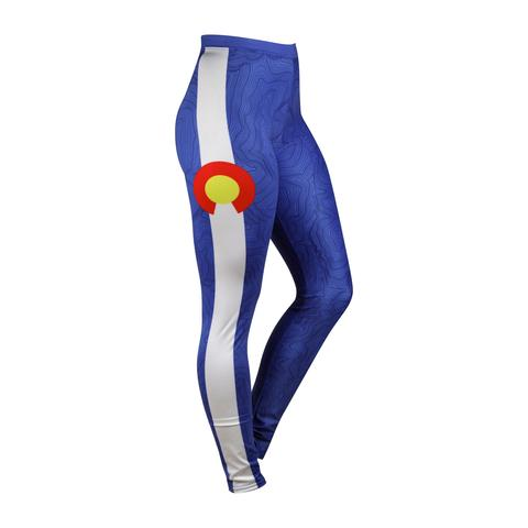 Leggings - Kind Design Vail Topo Leggings (Colorado Theme)