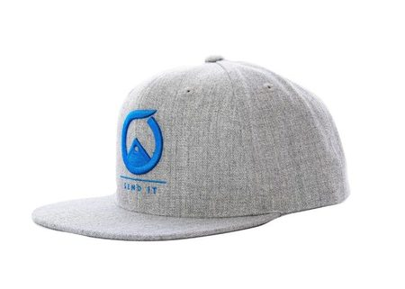 Ball Caps & Snapbacks - Send It  Grey Canvas FlatBrim