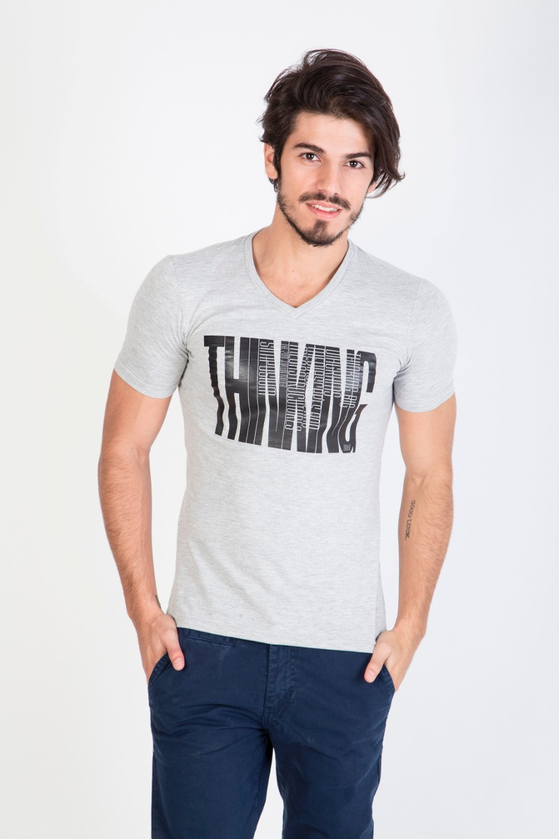 Mangas Cortas - Kout Remera Thinking