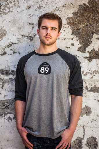 California 89 UNISEX BASEBALL SHIRT WITH SHIELD FRONT, GONDOLA ON BACK
