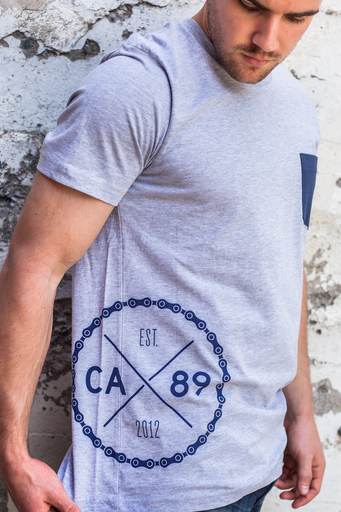 Tees - California 89 MEN'S SHORT SLEEVE SPOKE POCKET TEE