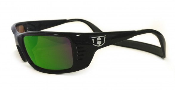 Hoven Vision MEAL TICKET Black Gloss / Green Chrome Polarized