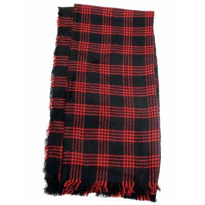Fight For Your Right Fight For Your Right Pashmina Cuadros Negro-rojo Hombre