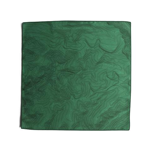 Tees - Kind Design TOPO POCKET SQUARE / FOREST