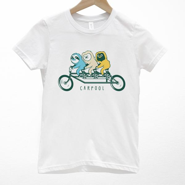 Tees - Cuipo Sloth Carpool Youth Tee