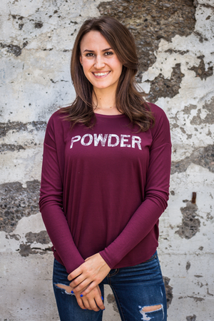 Long Sleeve - California 89 WOMEN'S LONG SLEEVE FLOWY POWDER