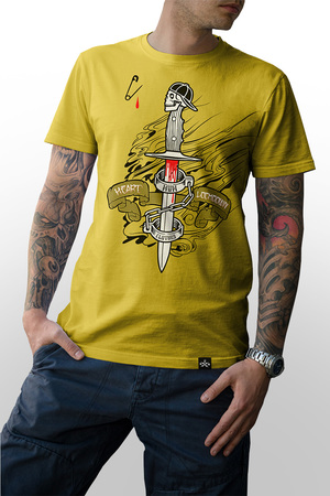 Mangas Cortas - MÜM Remera Lockdown Yellow