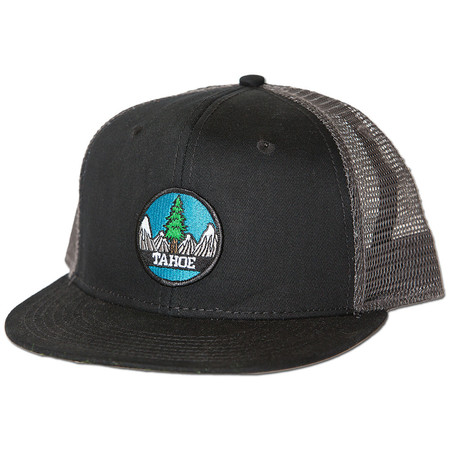 Rise Designs Tahoe Tree Circle Snapback Hat - Charcoal Black