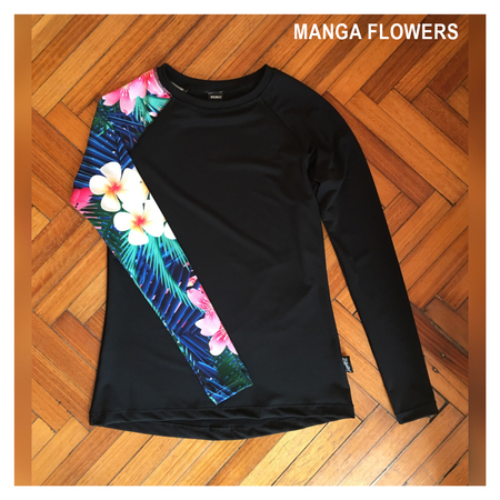 Mangas Largas - Wildass Maia Rash Guard Flowers