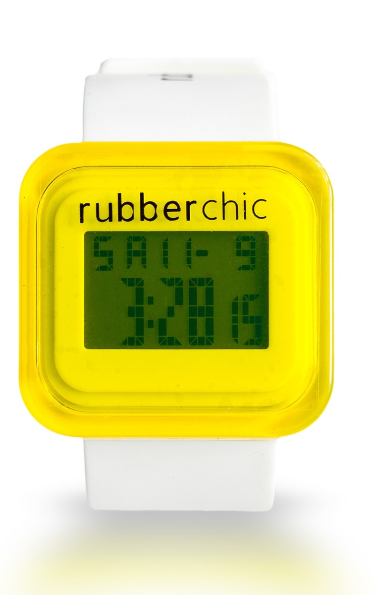 Relojes - Rubberchic Reloj Box White And Yellow