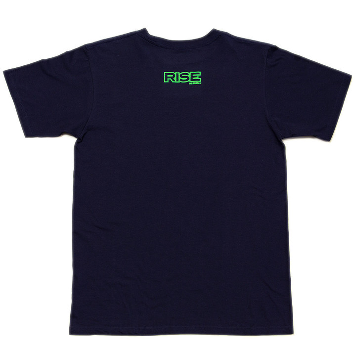 Tees - Rise Designs Deep Into Nature - Tshirt - Mens - Navy Blue