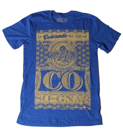Tees - So-Gnar In Colorado We Trust Tee - Blue