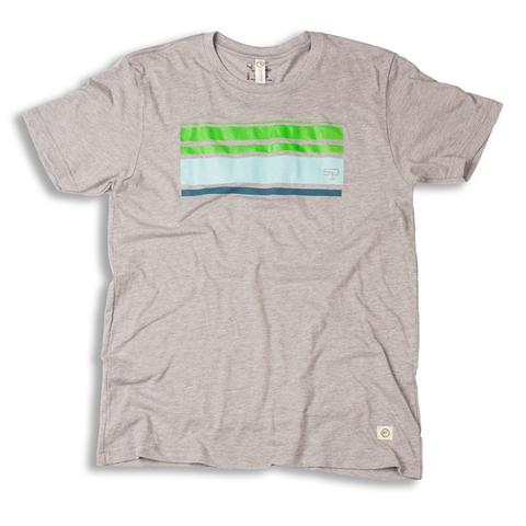 Tees - Soul Poles retro stripe tee :: recycled x-ray film