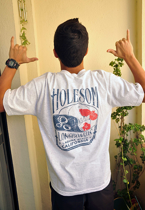 Tees - Holesom Longboards Pocket T Laguna Hatshirt