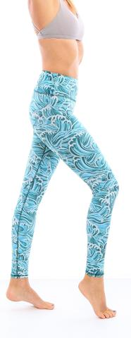 Leggings - Okiino Fiji Waves Leggings