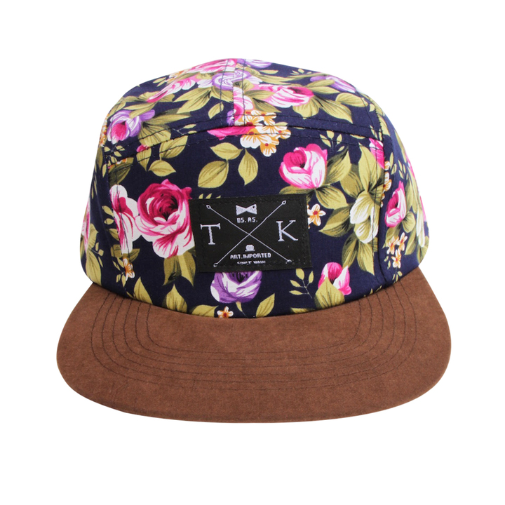 Five Panels - Tomi Kaa Gorra Flower Power Gamuza