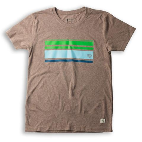 Tees - Soul Poles retro stripe tee :: recycled beer bottles