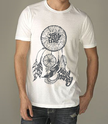 Tees - Local Honey Designs Mens Dreamcatcher Poly/Cotton Crew