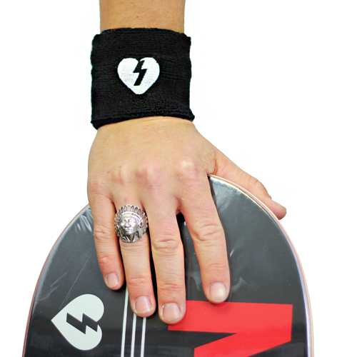 More - Mystery Skateboards MYSTERY HEART SWEAT BAND BLACK
