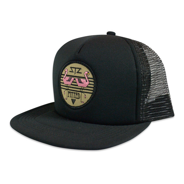 Ball Caps & Snapbacks - STZ black trucker / pitted