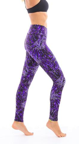 Leggings - Okiino Violet Lionfish Leggings