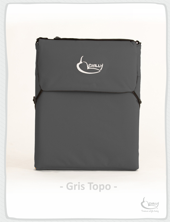 Reposeras - Chilly Design Reposera Chilly Gris Topo