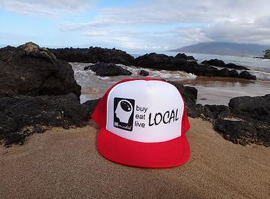 Ball Caps & Snapbacks - Hi Minded Buy Eat Live LOCAL Trucker Hat