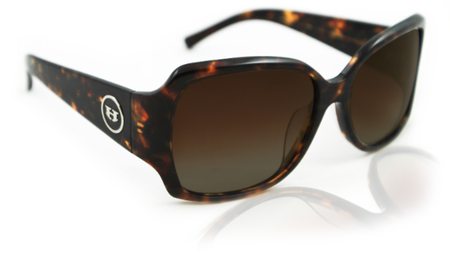 Sunglasses - Hoven Vision LAYLA Dark Tort / Brown Polarized