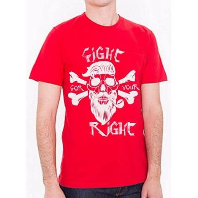 Mangas Cortas - Fight For Your Right Remera Calavera Beard