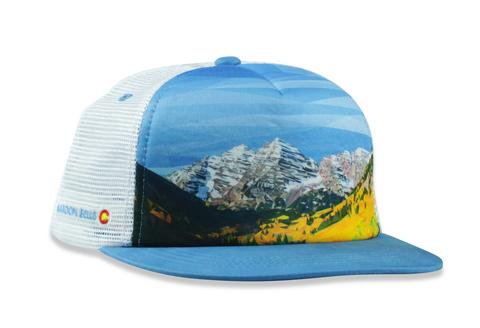 Ball Caps & Snapbacks - Kind Design MAROON BELLS TRUCKER CAP