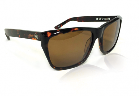 Sunglasses - Hoven Vision KATZ Dark Tort Gloss / Brown Polarized
