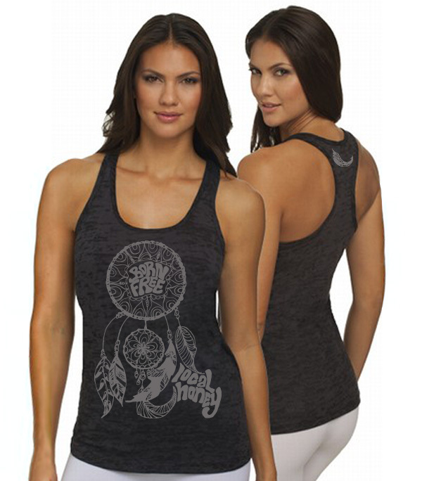 Tanks - Local Honey Designs Dreamcatcher Burnout Razor Tank