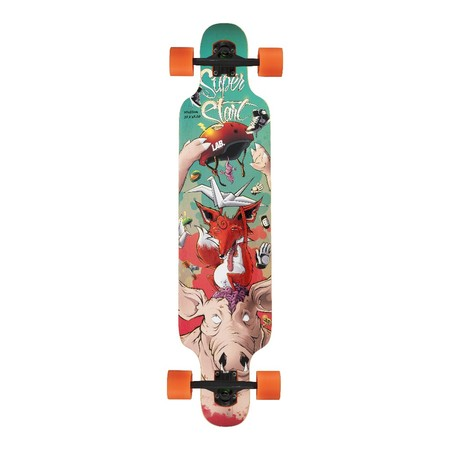 Lab Skateboarding Longboard Completo SuperStart TOP MOUNT - Estampado: Pig - Ruedas LAB 70mm.