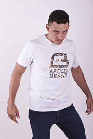 Mangas Cortas - Apolo Remera Safari Logo  White