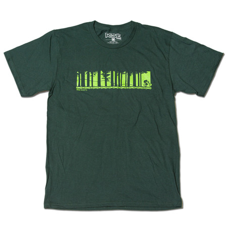 Rise Designs Tahoe Mountain Bike - T-Shirt - Mens - Forest Green