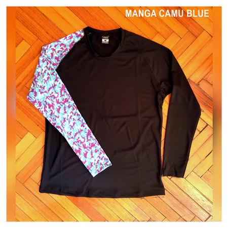 Mangas Largas - Wildass Maia Rash Guard Camu Blue