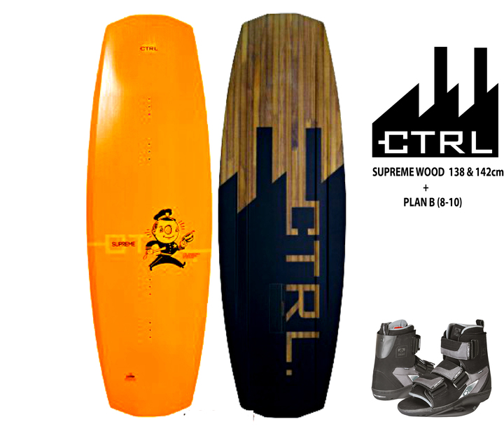 CTRL  Combo de wakeboard CTRL The Supreme Wood 138cm c/Plan B (8-10)
