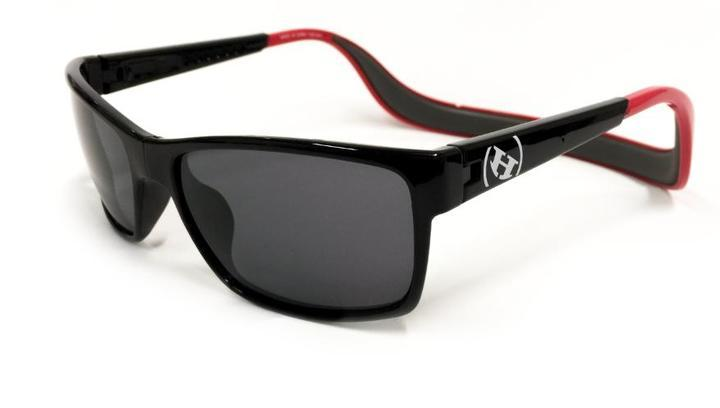 Sunglasses - Hoven Vision MONIX Black - Red Gloss - Grey Polarized