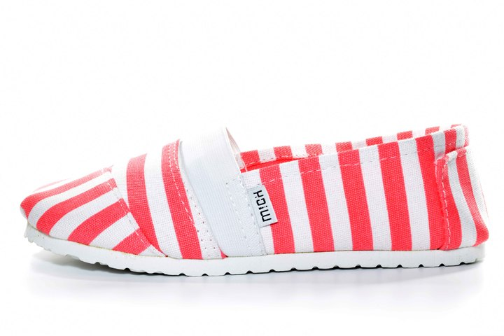 Náuticos - Mich Shoes Náutica Striped Coral