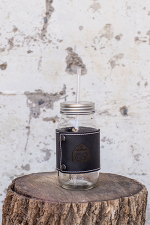 More - California 89 MASON JAR WITH LEATHER WRAP